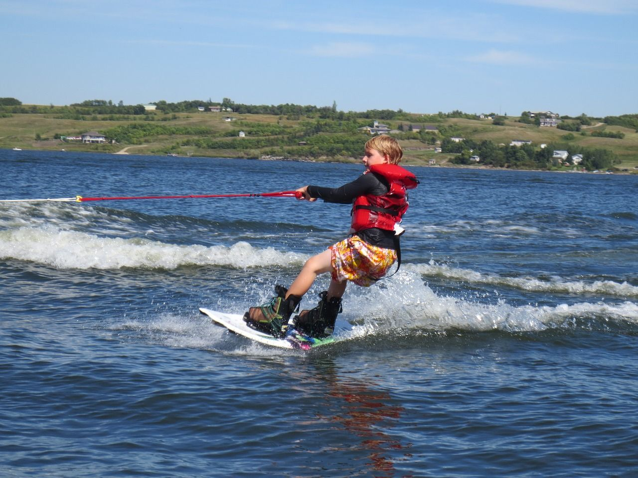 Child on the wakeboard