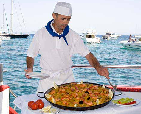 Typical and delicious paella